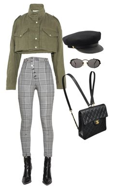 """Untitled #5692"" by lilaclynn ❤ liked on Polyvore featuring Alexander Wang, Off-White, Jean-Paul Gaultier and Chanel"