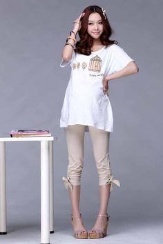 Aliexpress.com : Buy Cotton Maternity Top T shirt For Pregnant Women Clothes Casual Print Tee Tops Maternity Clothing Basic Shirts Wear Summer 2015 from Reliable maternity wedding dress designers suppliers on Color tree Trading Co., Ltd.. | Alibaba Group