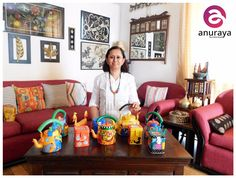 She's a professionally trained textile designer, a proud DIYer, a painter, an expressionist, a nature lover, a home décor enthusiast, a globe trotter…but more than anything else, she is an ARTIST at heart! Meet Anuradha Kapoor, the creative head behind ANURAYA!  #MeetTheArtist #Anuraya #AnuradhaKapoor #Creativity #Art #HomeDecor #HomeUtility #Painter #Artwork #Designer #artisan #inventor #Artist #Artwork #Delhi #Gurgaon #India #Handicrafts