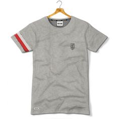 Koszulka patriotyczna Haft NSZ jaszczurka z biało-czerwoną opaską - Kolekcja Dyskretna - odzież patriotyczna, koszulki męskie Red is Bad