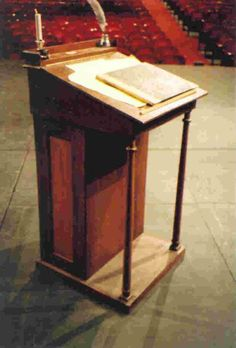 a christmas carol prop a.k.a. old wooden desk-like thing