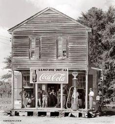"Crossroads Store photo Circa 1935. ""Crossroads store at Sprott, Alabama."" Photograph by Walker Evans."