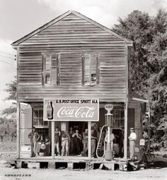 "Crossroads Store photo Circa 1935. ""Crossroads store at Sprott, Alabama."" Photograph by Walker Evans."