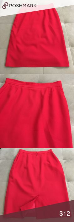 Evan Picone Red A-Line Skirt Evan Picone Red A-Line Skirt. Good condition. Size 10 but measures small. Waist measures 29 inches. Length is 25 inches. Evan Picone Skirts A-Line or Full