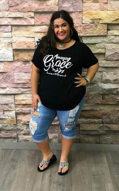 f0fb6c9b9d172 Graphic T Shirts · Plus Size Outfits ·  65-H