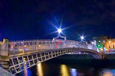 Dublin - Ha'penny Bridge by Alex Art and Photo Bridge Painting, Sale Poster, Dublin Ireland, Sydney Harbour Bridge, Fine Art Prints, Beautiful Pictures, Photography, Phone Cases, Image