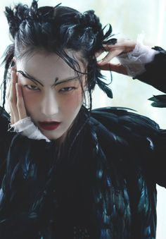 somethingvain: Ji Hye Park in Noir Et Blanc for Vogue Korea January 2013