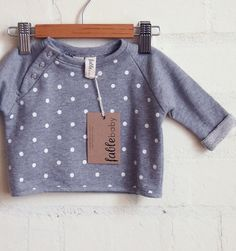 SALE - Handmade Unisex Cropped Spot Sweater - Grey & White