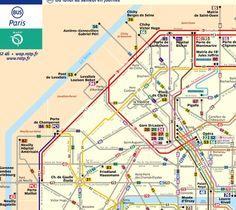 Paris Bus Map Travel Pinterest Bus Map And France - Bus map paris france