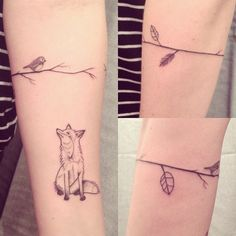 fox and leaves tattoo - Google Search