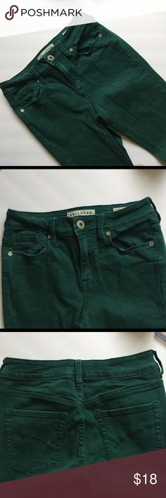 BULLHEAD high rise forest green skinnies Hey Beautiful! These bullhead high waisted forest green skinnies on  on trend!  Same/Next day shipping! Bundle and save. Each sale helps me to pay medical bills, thank you for considering these jeans! Bullhead Jeans Skinny
