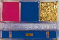 Ex-voto to sainte Rita de Cascia. Jean Tinguely, International Klein Blue, Italian Unification, Nouveau Realisme, Sainte Rita, Yves Klein Blue, Feuille D'or, French Artists, Graphic Design Art