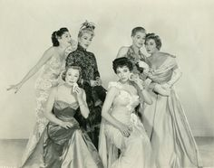 L-R: Ann Miller, June Allyson, Dolores Gray, Joan Collins, Ann Sheridan and Joan Blondell in The Opposite Sex (1956, MGM)