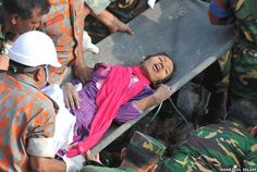 HALLELUJAH! Woman Rescued From Collapsed Bangladesh Factory After 17 Days (PHOTOS)