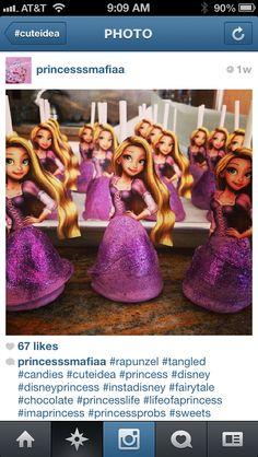 Rapunzel cake pops