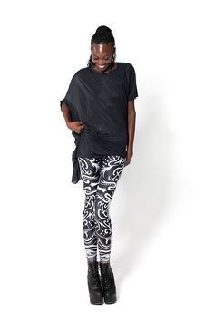 Back of the Deck Leggings by Black Milk Clothing