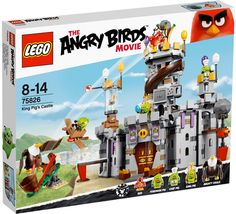 6 New Angry Birds LEGO Sets to be Released in April 2016 - King Pig's Castle (75826) - Box Image