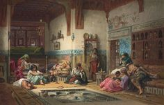 Frederick Arthur Bridgman (American, 1847-1928) The Nubian Story Teller in the Harem Price realised GBP 769,250 USD 1,282,340 Estimate GBP 400,000 - GBP 600,000 (USD 660,800 - USD 991,200)