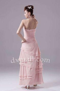 Sheath/Column Mother Of The Bride Dresses Sweetheart Floor Length Chiffon Pink 120010400088