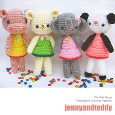 How adorable are these? You can make your own! Amigurumi Crochet Pattern.