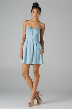 Cute summer dress blue very pretty very short buttttttttttttt cute