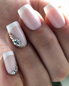 Natural Wedding Nails, Wedding Manicure, Wedding Nails For Bride, Bride Nails, Wedding Nails Design, Wedding Beauty, Shellac Nails, Nail Manicure, Fancy Nails