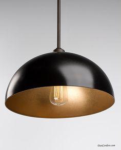 Gold & Oil Rubbed Bronze   Edison Pendant Light by DanCordero, $135.00