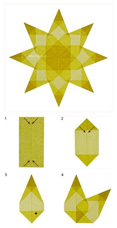 Advent craft made easy - Origami İdeas Diy Crafts To Do, Xmas Crafts, Crafts For Kids, Paper Crafts, Origami Stars, Diy Origami, Origami Ideas, Origami Design, Simple Christmas