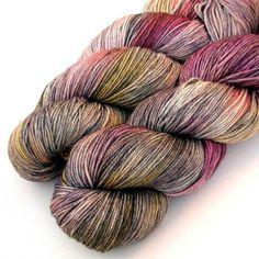 Silky 50/50 SW Merino and Silk Yarn -Steady On, 435 yards by JulieSpins via Etsy