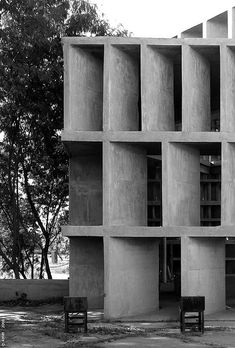 Visions of an Industrial Age // This is a chandigarh Le Corbusier brutalist architecture building. I like this brutalist architecture building because it is very simple, its easy to look at but my eyes do tend to wonder. Architecture Bauhaus, Le Corbusier Architecture, Architecture Design, Concrete Architecture, Facade Design, Amazing Architecture, Contemporary Architecture, Computer Architecture, Gothic Architecture