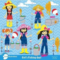 Girls gone fishing clipart. Girls fiishing with their fishing poles, pails and bait clipart. The clipart set comes with there are 6 girls fishing cliparts – 6 inch x 6 inch 300 cliparts. Are [...]