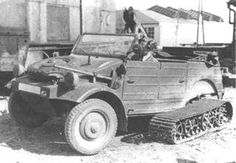 """VW Type 128 """"Kübelwagen"""" with track system (Half Track)"""