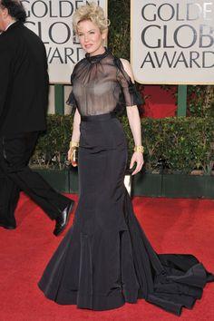 Renee Zellweger. Golden Globes 2009