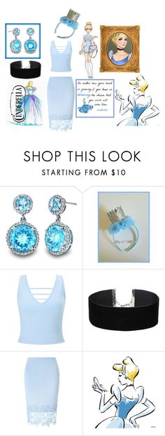 """""""High School Cinderella"""" by cagw1212 ❤ liked on Polyvore featuring beauty, Disney, Miss Selfridge and Lipsy"""