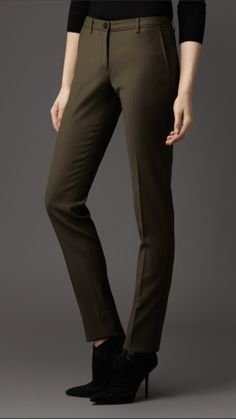 Slim Fit Tailored Trousers | Burberry