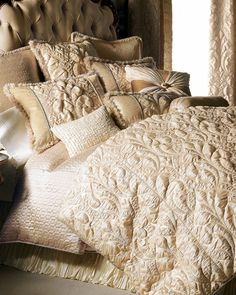"""Dian Austin Couture Home """"Neutral Modern"""" Bed Linens"""