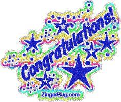 Blue Glitter Graphics | Glitter Graphic Comment: Congratulations Blue Rainbow Glitter Text ...