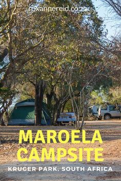 Why to visit Maroela Campsite at Kruger National Park All About Africa, Camping Style, Slow Travel, Luxury Camping, Kruger National Park, Africa Travel, Countries Of The World, Virtual Tour, Campsite