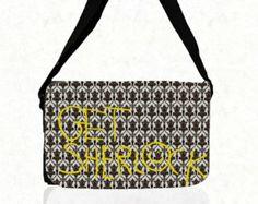 "Spring Sale SHERLOCK BBC ""Get Sherlock""  Medium  Messenger Bag"