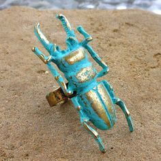 Theres No One Here But Us Bugs verdigris patina by lluviadesigns, $14.00