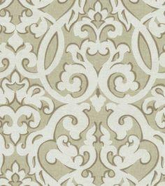 Home Decor Print Fabric-Waverly Evening Scroll Stone
