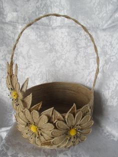 Multipurpose jute baskets are up for sale DM for prices and details:) by and Crafts House Diy Crafts Hacks, Diy Crafts For Gifts, Diy Home Crafts, Diy Arts And Crafts, Creative Crafts, Yarn Crafts, Handmade Crafts, Handmade Ideas, Diy Ideas