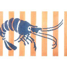 Shrimp Stencil/Coral
