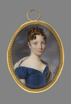 While the image is later than 1813, i have seen other images similar to this bodice in 1813, this style would work well with my chosen gown.    J.Parent, Portrait of a lady in blue dress, 1815