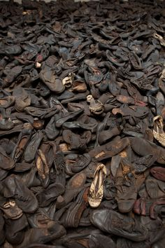 Shoes confiscated from prisoners at Majdanek,  from the State Museum of Majdanek, Lublin, Poland.