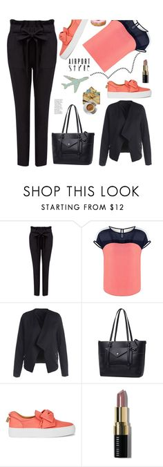 """""""Jet Set: Airport Style"""" by samra-bv ❤ liked on Polyvore featuring BUSCEMI, Bobbi Brown Cosmetics, polyvorecommunity, airportstyle and polyvorefashion"""