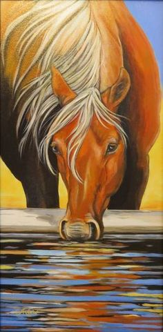 Anita Klein Images of the West - Horses Canadian Artists, Horse Art, Wrapped Canvas, Rooster, Horses, Artwork, Sketch, Paintings, Animals