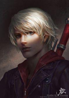Nero by GothicQ on DeviantArt Fantasy Male, Dark Fantasy, Character Portraits, Character Art, Gakuen Handsome, Nero Dmc, Davil May Cry, Dante Devil May Cry, Human Art