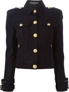 Shop Balmain cropped military jacket in L'Espionne from the world's best independent boutiques at farfetch.com. Shop 300 boutiques at one address.