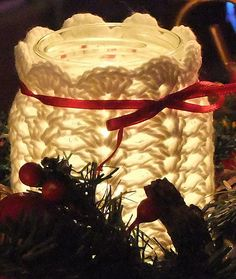 Ravelry: nessie-jp's Crochet Candle Jar Cover